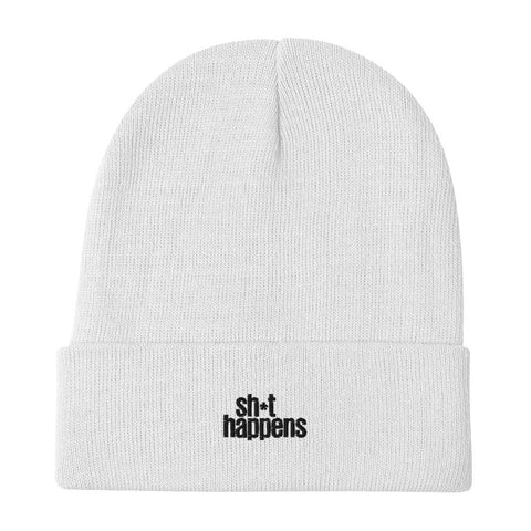sh*t happens — Embroidered Beanie
