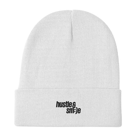 hustle & smile — Embroidered Beanie