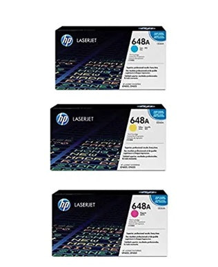 3 Color Set Cyan Magenta Yellow Genuine Hewlett Packard HP CP4025 Toner CP4525 Toner HP 4025 Toner, HP 4525 Toner