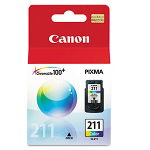Canon Genuine OEM 2976B001 CL-211 (CL211) Color Inkjet Cartridge (244 YLD)