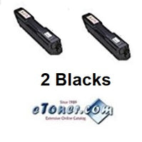 Two Black Compatible Toner For Ricoh SP C250DN Ricoh SP C250SF Ricoh SP C261SF Toner (2x407539C)