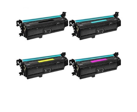 CF403XGRNBW4 Compatible HP Color LaserJet Pro M252, MFP M277 Toner - Cyan Yellow Magenta Black