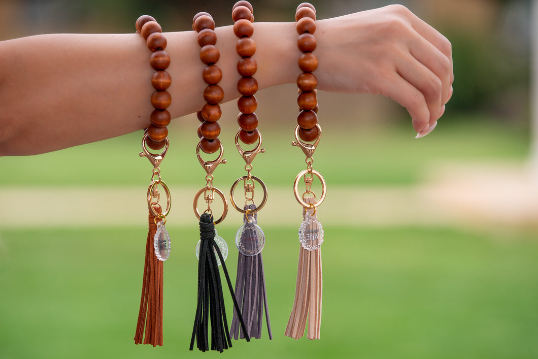 Wooden Bangle Key Chain