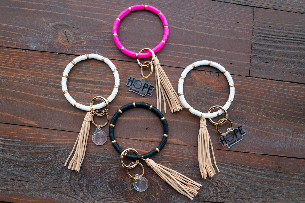 Boho Bead Bangle Key Chain
