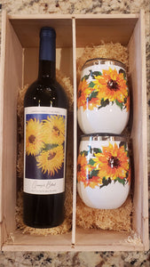 Quinny's Blend Sunflower Wine Tumbler Set - Donate to Fight ALS
