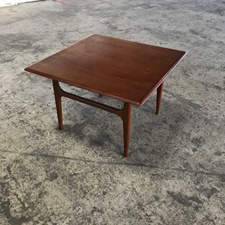 Mid Century Danish Modern Square Teak Coffee Table by Trioh