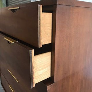 Mid Century Modern Walnut Dresser by Kent Coffey - The Tableau
