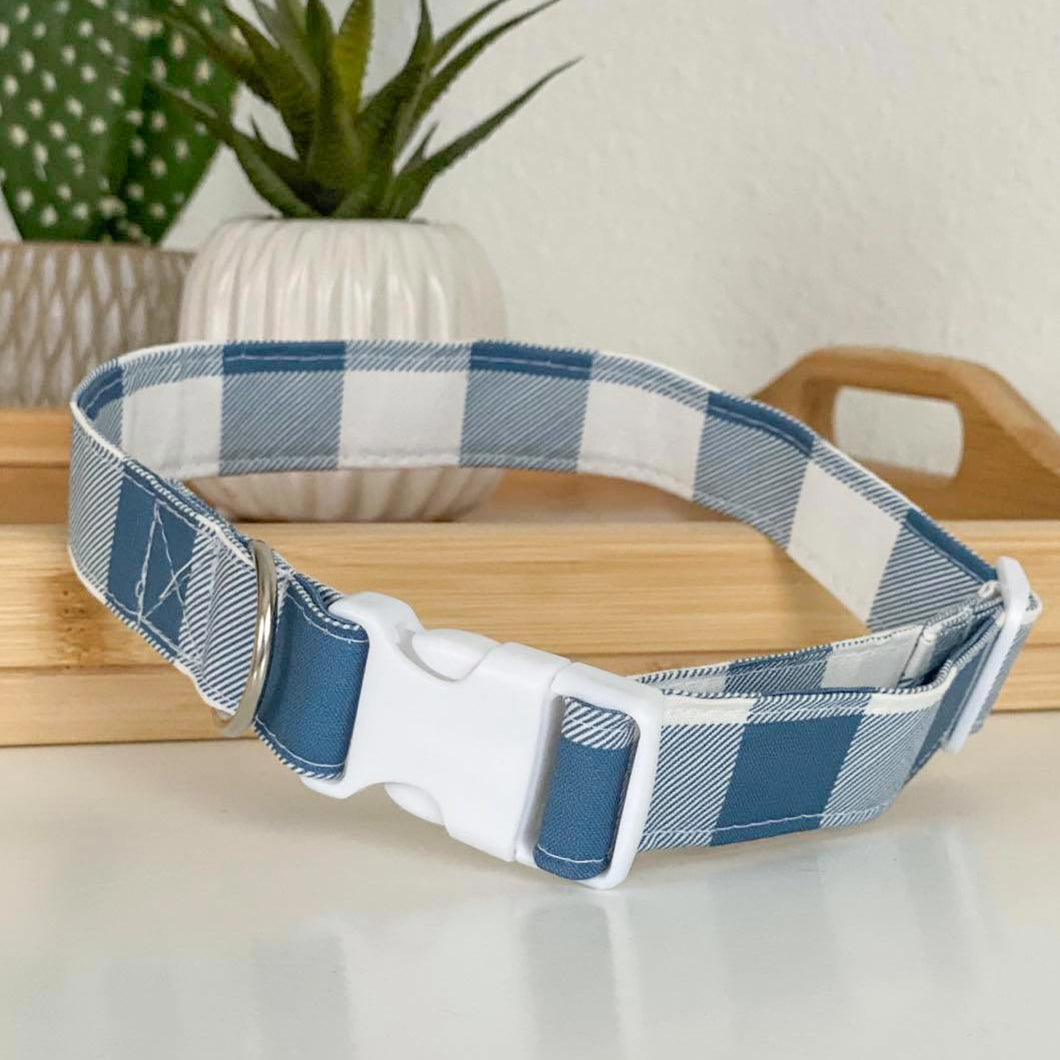 Blue Plaid Collar