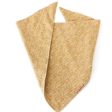 Load image into Gallery viewer, Tan Paisley Bandana