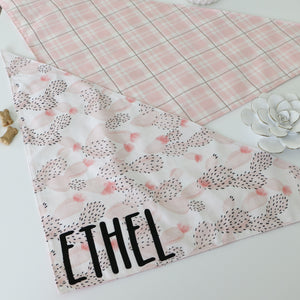 Pink Cactus Plaid Floral Dog Bandana