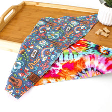 Load image into Gallery viewer, Tie Dye Retro Dog Bandana