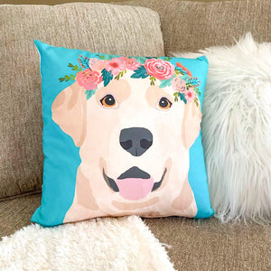 Yellow Labrador Pillow