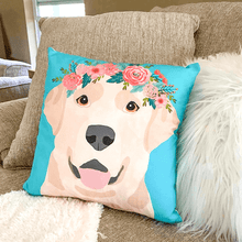 Load image into Gallery viewer, Yellow Labrador Pillow