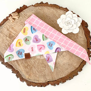 Conversation Heart Bandana