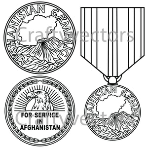 Afghanistan Campaign Medal Vector File