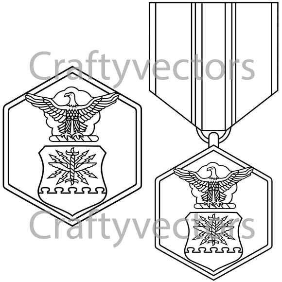Air Force Commendation Medal Vector File