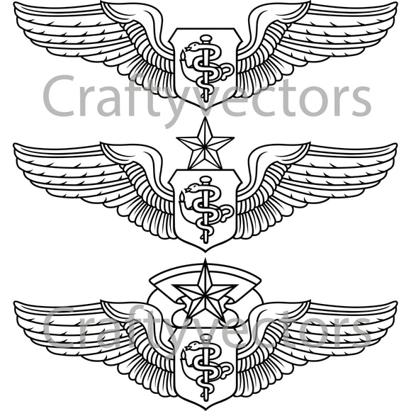 Air Force Flight Nurse Badge Vector File