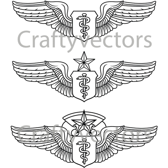 Air Force Flight Surgeon Badge Vector File