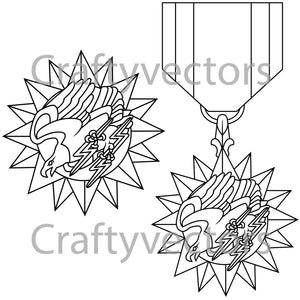 Air Medal Vector File