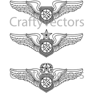 Air Force Air Battle Manager Insignia Vector File