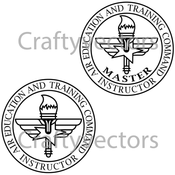 Air Force Air Education Training Instructor Badge Vector File