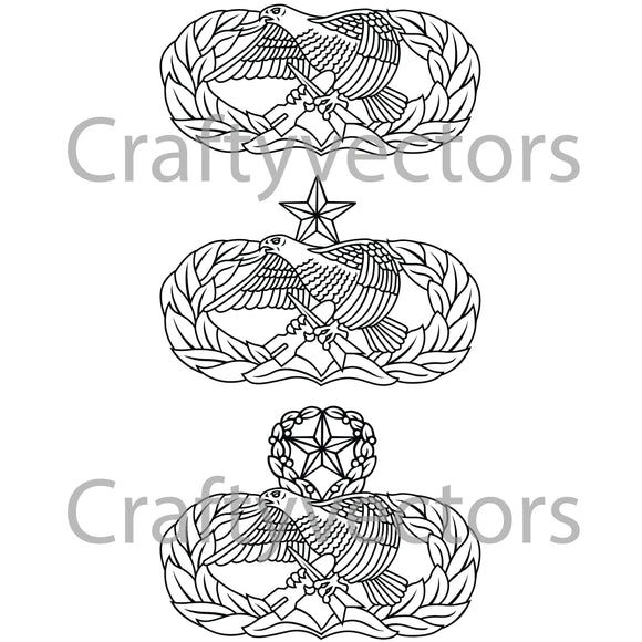 Air Force Aircraft Maintenance Insignia Vector File
