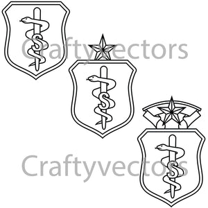 Air Force Biomedical Sciences Corps Insignia Vector File
