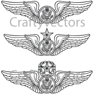 Air Force Enlisted Aircrew Badge Vector File
