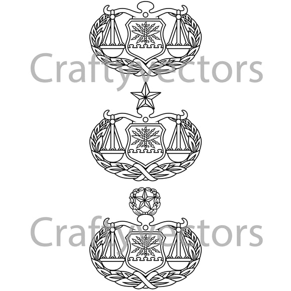 Air Force Judge Advocate General Badge Vector File