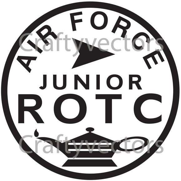 Air Force Junior ROTC Badge Vector File