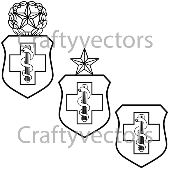 Air Force Medical Badge Vector File