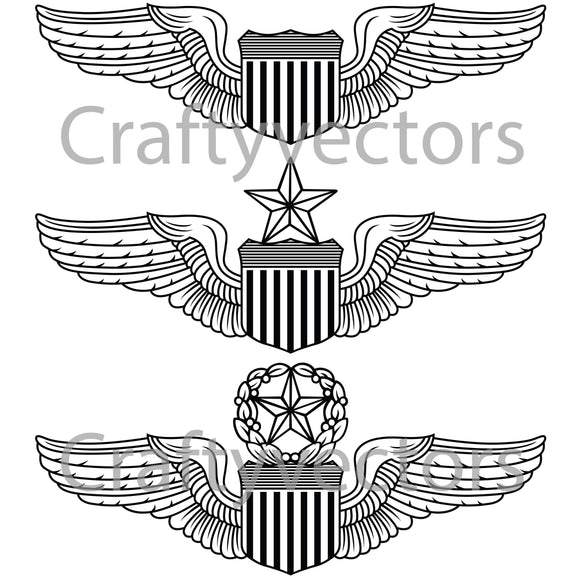 Air Force Pilot Badge Vector File