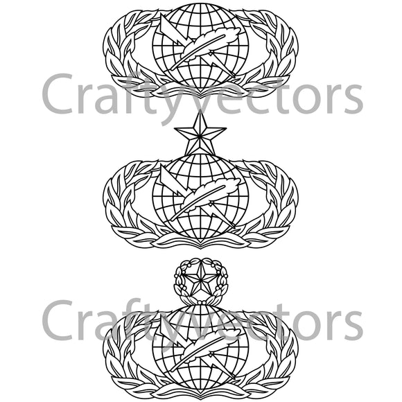 Air Force Public Affairs Badge Vector File