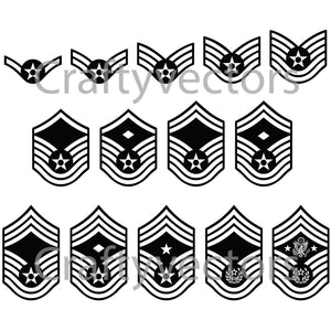 Air Force Ranks Vector File