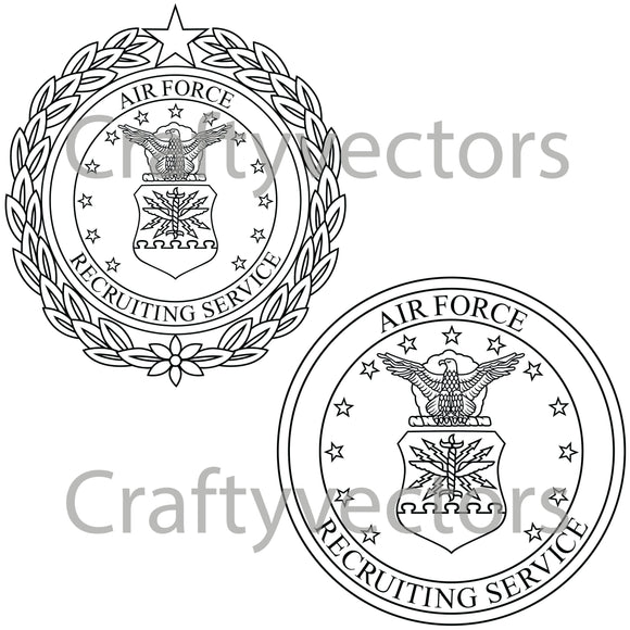 Air Force Recruitment Badge Vector File