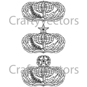 Air Force Services Badge Vector File