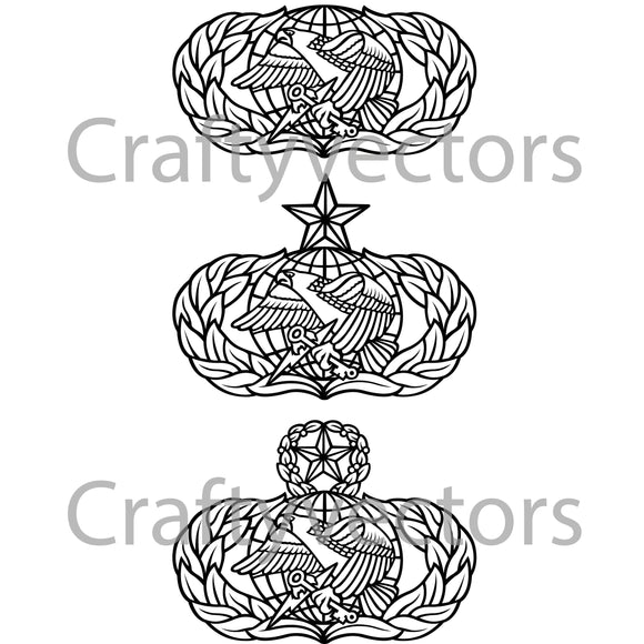 Air Force Supply Fuel Badge Vector File