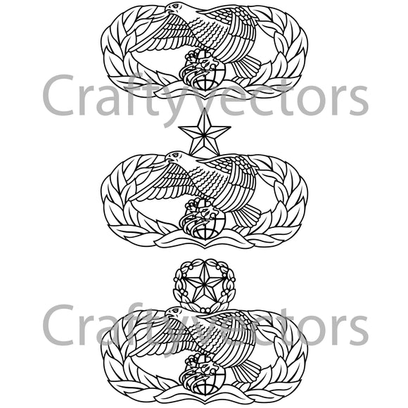 Air Force Transportation Badge Badge Vector File