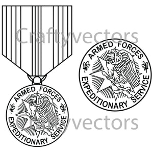 Armed Forces Expeditionary Medal Vector File