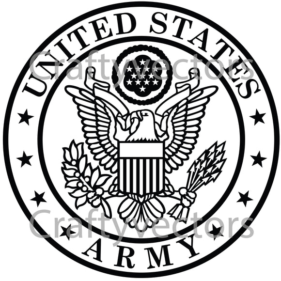 Army Crest Vector File