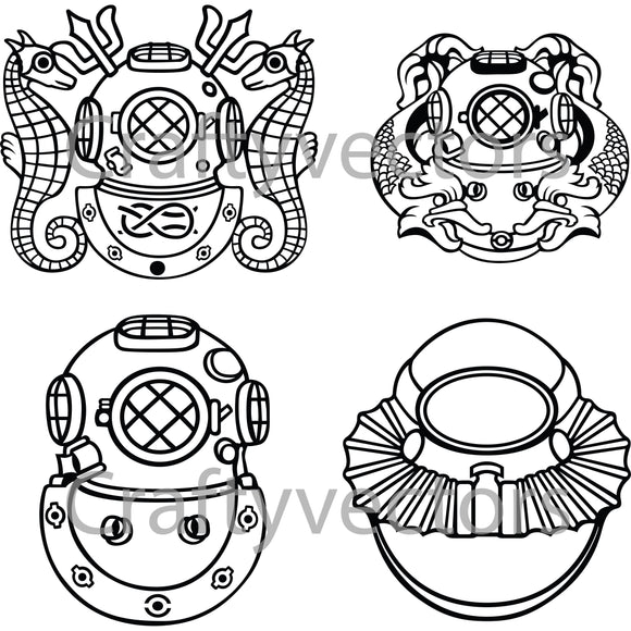 Army Divers Badges Vector File