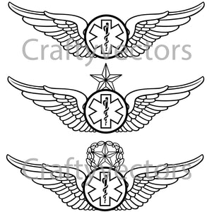 Army Emergency Medical Technician Badge Vector File