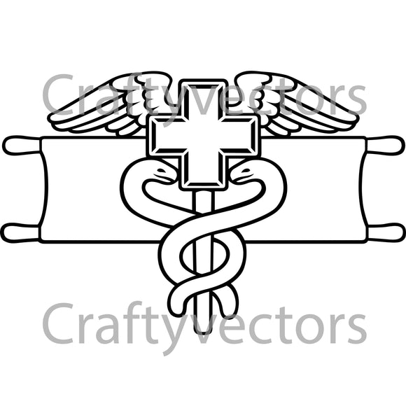 Army Expert Field Medical Badge Vector File