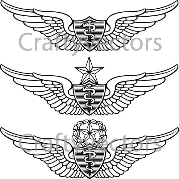 Army Flight Surgeon Badge Vector File