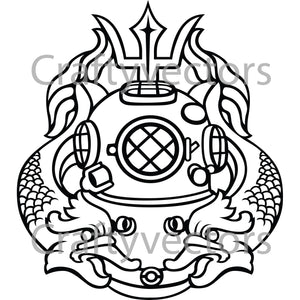 Army Master Diver Badge Vector File
