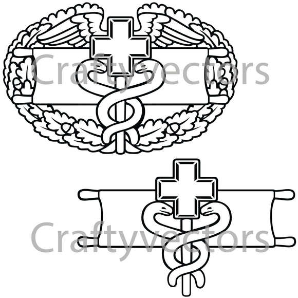 Army Medical Badge Vector File