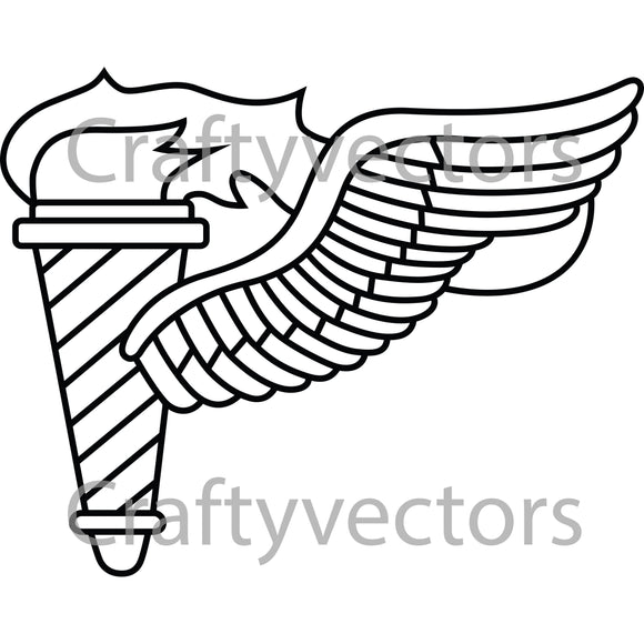 Army Pathfinder Badge Vector File