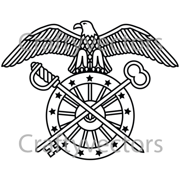 Army Quartermaster Badge Vector File