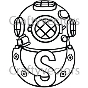 Army Salvage Diver Badge Vector File