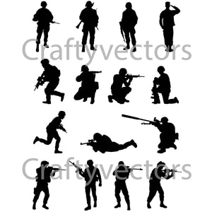 Army Soldiers Male Vector File